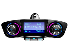 New FM Transmitter Aux Bluetooth Handsfree Car Audio MP3 Charger USB