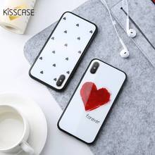 KISSCASE Cute Heart Tempered Glass Case For iPhone X Love Flamingo Unicorn Owl Protective Back Cover Cases 8 Plus 7