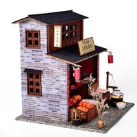Chinese style Dollhouse DIY Dollhouse tofu store Fidget Wooden Toys for Children Kids Birthday Gift