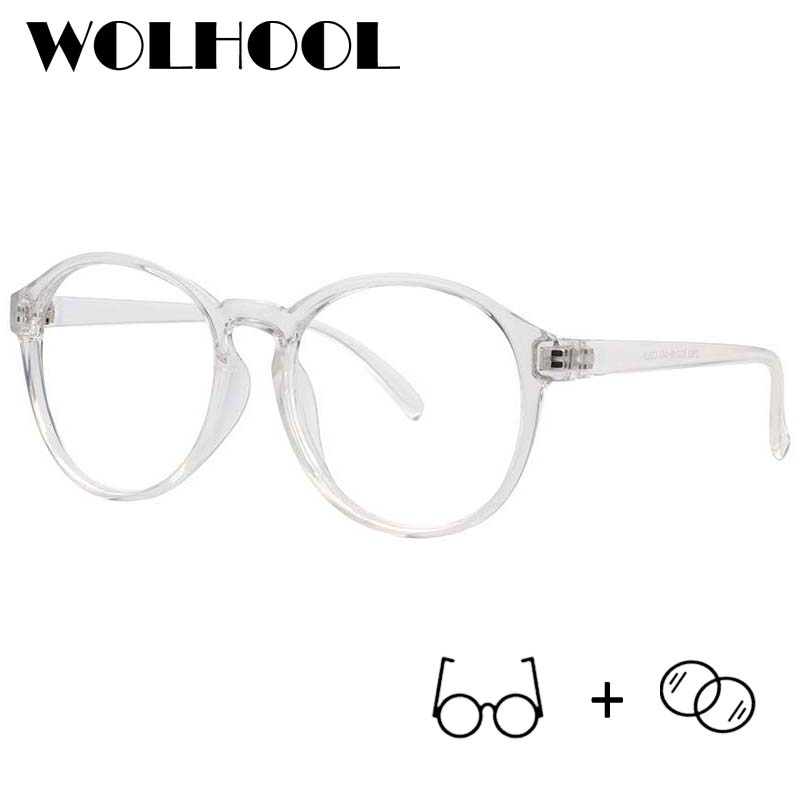 Prescription Glasses Women Clear-Lens Reading Retro Round Fashion Eyewear Computer Transparent