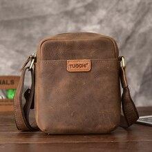 купить 2019 new arriver Genuine Leather men male cowhide flap bag Shoulder Crossbody Handbags Vintage Messenger small man tote bags дешево