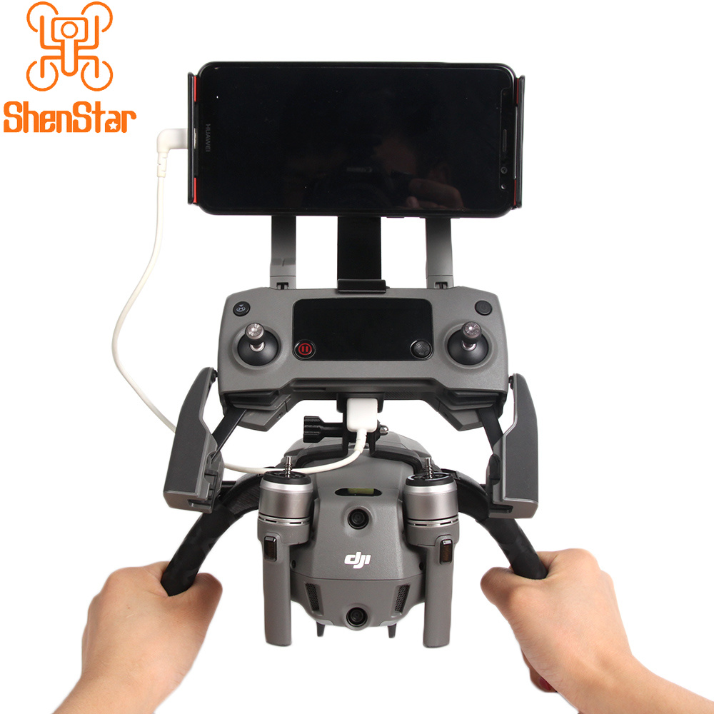 Drone Modified Kit Dual Handle Handheld Gimbal Stabilizer Bracket For DJI MAVIC 2 PRO & ZOOM PTZ With Tablets / Remote Holder