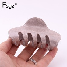 2019 Spring Summer Acrylic Large Crab For Hair Lighter Colors Solid Claw Clips Women Quality Strong Bit Force Tail