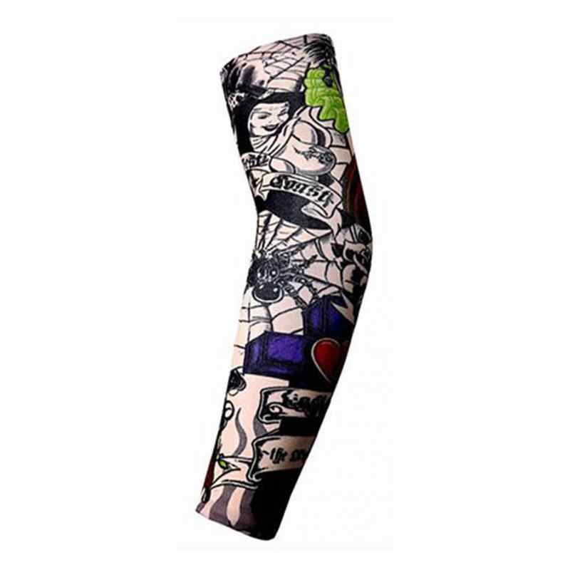 Men's Accessories 1pcs Trendy Men Women Tattoo Sleeve New High Elastic Fake Temporary Designs Summer Sunscreen Body Arm Warmers