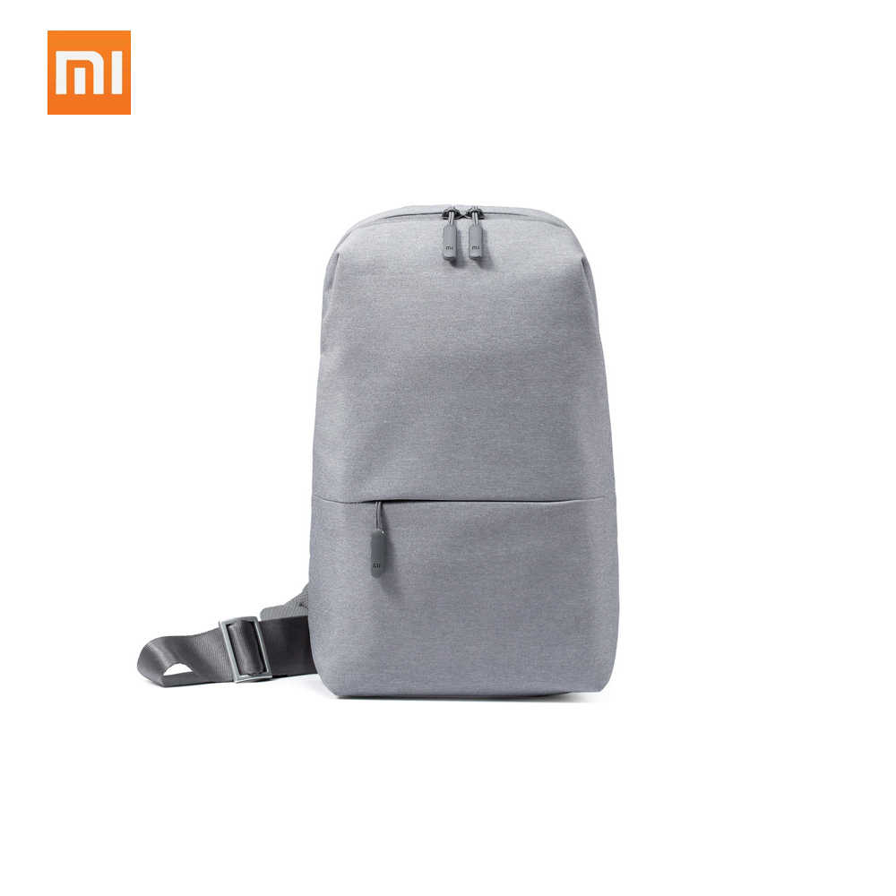 Original Xiaomi Sling Saco Mochila Lazer Pacote Peito Tipo de Tamanho Pequeno Ombro Unisex Mochila Saco Crossbody 4L Poliéster