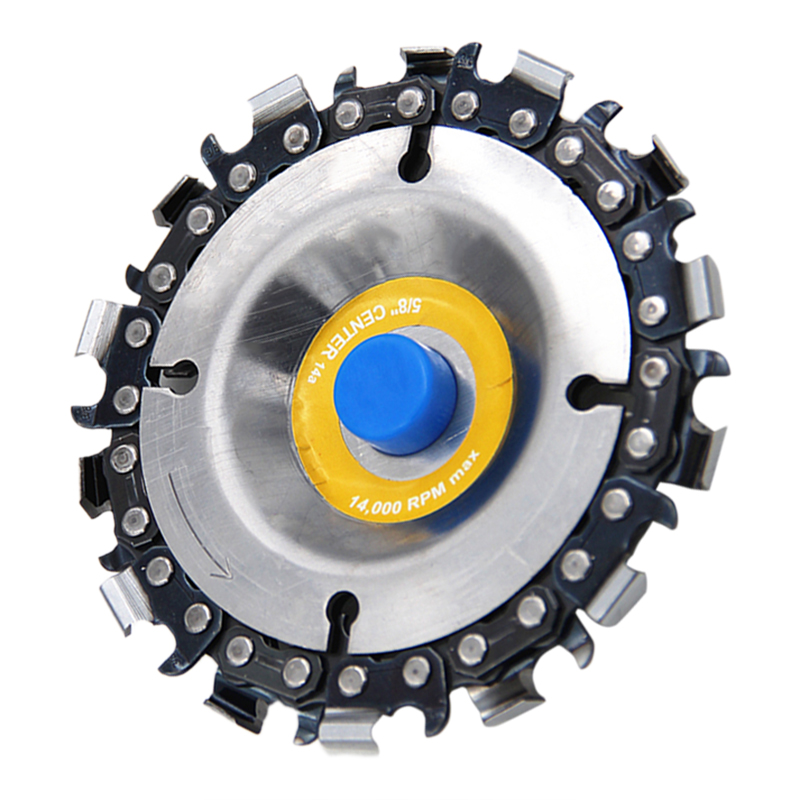 4 inch 12 Teeth Chain Plate Woodworking Carving Disc Grinding Wheel Disc for Angle Grinder