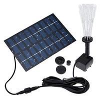 9V 220L/H güneş bahçe çeşme güneş bahçe çeşmeleri şelaleler güneş enerjisi kuş banyo çeşme suyu pompası fıskiyeli çeşme