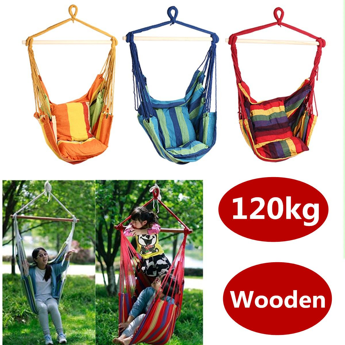 Toile d'extérieur Chaise Hamac Balançoire Suspendue chaise hamac Meubles De Jardin Chaise Relax Souple Intérieur Jardin Camping Swing