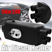 Auto Car AirDiesel Heater 5000W 24V Control Fuel Oil Pump for Truck Car Yacht Motor Home Trailer Boat Van Appliance Accessories