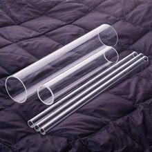 زجاج بوروسيليليك مرتفع أنبوب ، OD. 55mm ، سمك 4.5mm ، L. 500mm/750mm/1000mm ، مقاومة درجات الحرارة العالية أنبوب زجاجي