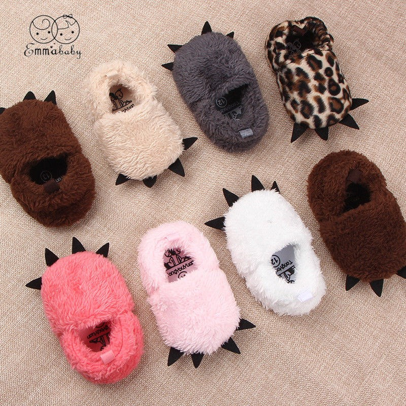 Brand New Infant Baby Boy Girl Shoes Booties Slippers Soft Sole Crib Shoes Prewalker