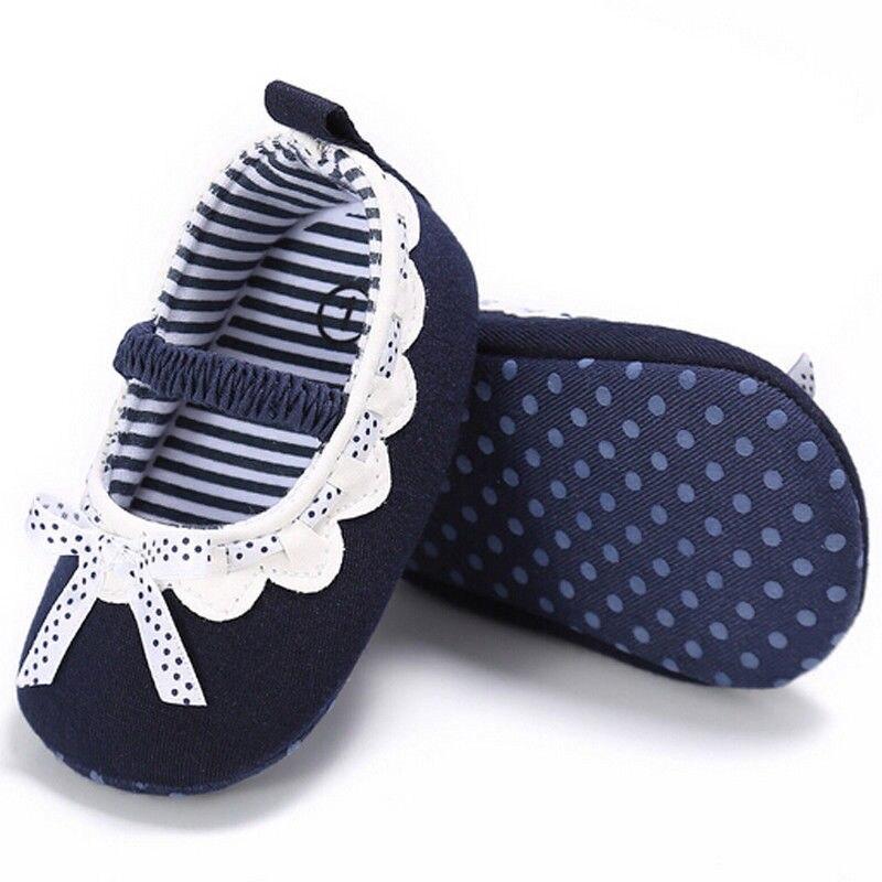 Babyschuhe Neugeborenen Baby Mädchen Kleinkind Kinder Kleidung Bowknot Gestreiften Schuhe Prewalker Geometrie Baumwolle Weiche Sohle Baby Schuhe 0-18month 2019 Offiziell Turnschuhe