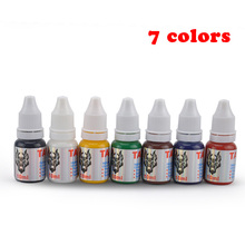 High Quality Tattoo Pigment 7 Colors set Permanent Makeup Ink 10ml Supply Bottles inks kit