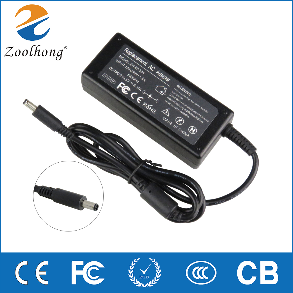 19 5V 3 34A 65W laptop AC power adapter charger for Dell Inspiron 15 3551  3552 3558 5551 5552 5555 5558 5559 7568 P28E P57G