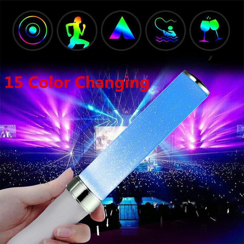 Adeeing Vocal Concerts LED Glow Stick 15 Colors LED Concerts Bar Event Birthday Party Supplies Prop To Cheer Emergency Lights