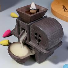 Backflow Incense Burner Ceramic Smoke Waterfall Censer Mountain River Handicraft Holder Traditional Home Decor