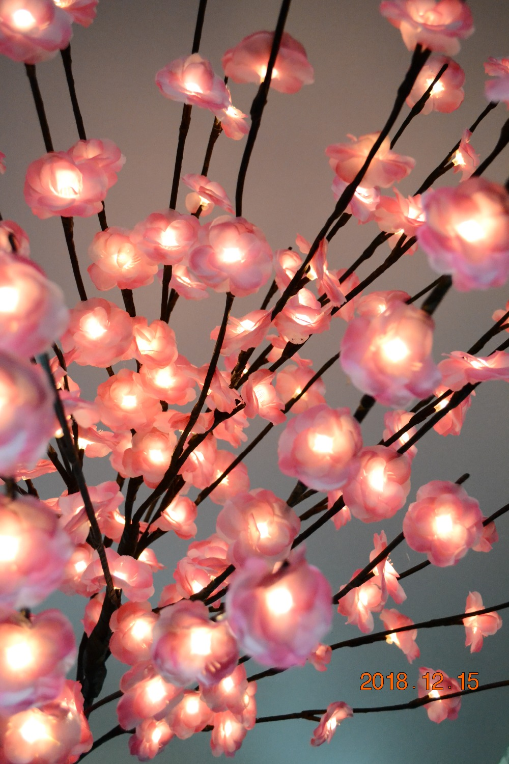 52 160 LED Blossom Mini Rose Flower Tree Light With Base Nature Trunk Holiday New Year Wedding Luminaria Decorative Tree Ligh - 4