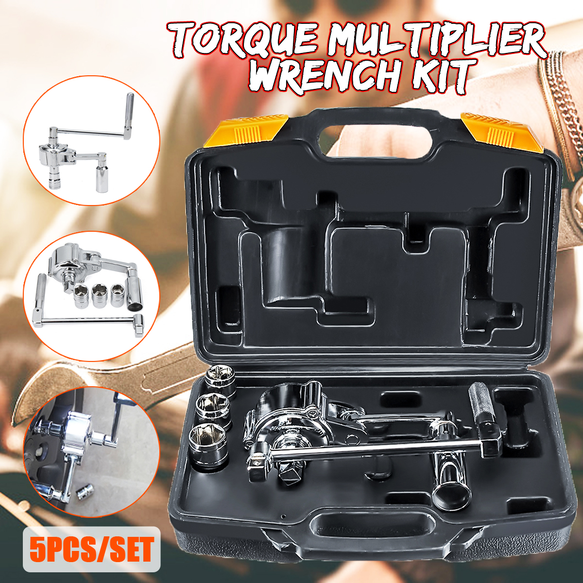Torque Multiplier Wrench Lug Nut Remover 1/2 Drive Socket 17 <font><b>19</b></font> 21mm <font><b>Tire</b></font> Change image