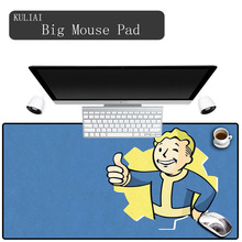 XGZ Games Fallout Gaming Mouse Pad Large Size Player  Office Decoration Desk Mat Keyboard Black and Blue Mousepad XL