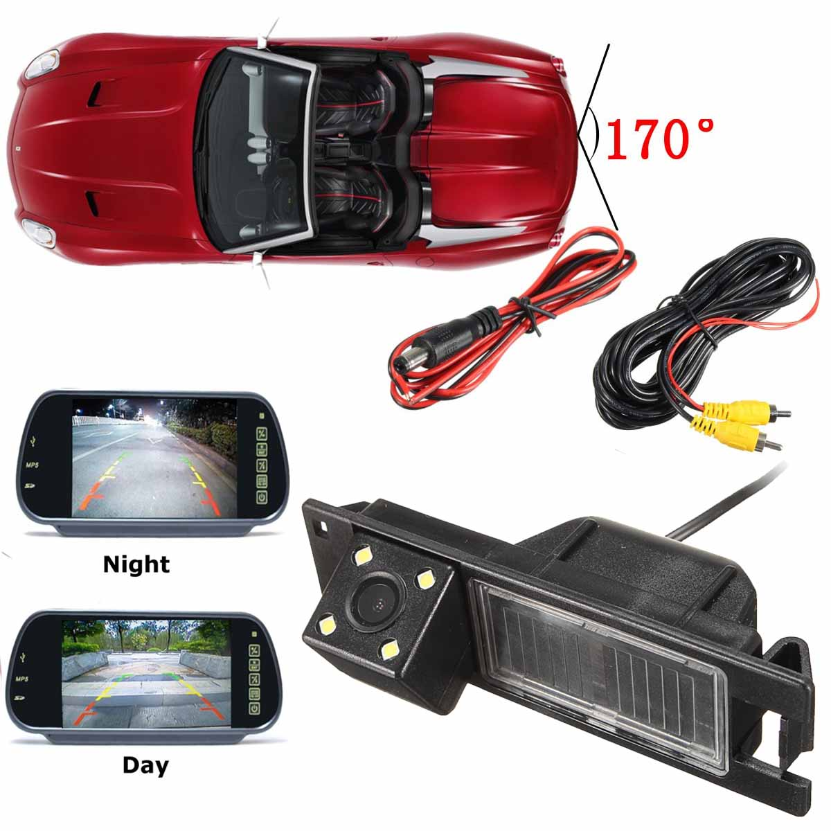 Waterproof Car Backup  Night Vesion CCD Car Reversing Rear View Camera For Opel Astra H J Corsa Meriva Vectra Zafira Insignia