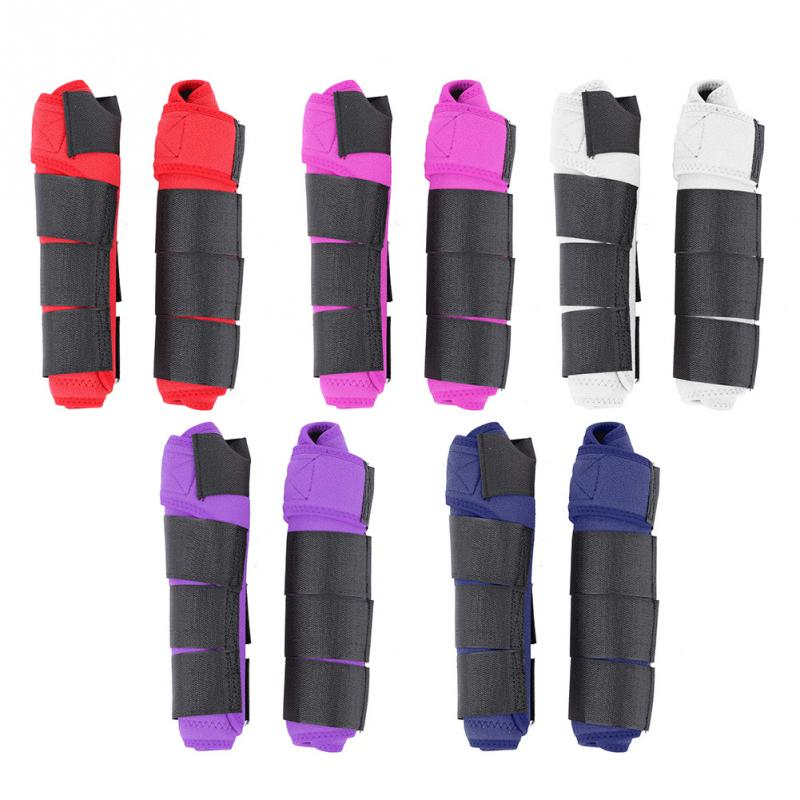 1 Pair Adjustable Equestrian Tendon Boots Horse Splint Leg Boot Protection Support Wrap Equestrian Equipment