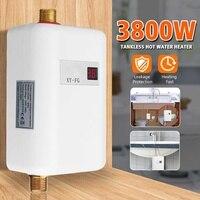 3800 Вт/3400 Вт Электрический водонагреватель мгновенный безрезервуарный водонагреватель 220 В 3.8квт температурный дисплей Отопление душ Униве...