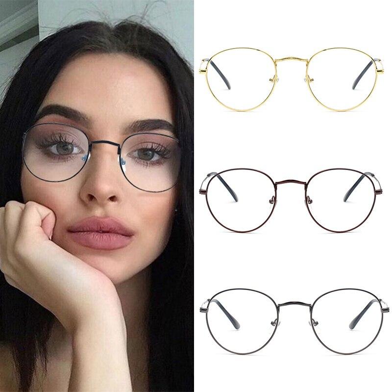 Women/'s Fashion Glasses Cute Round Clear Lens Eyeglasses