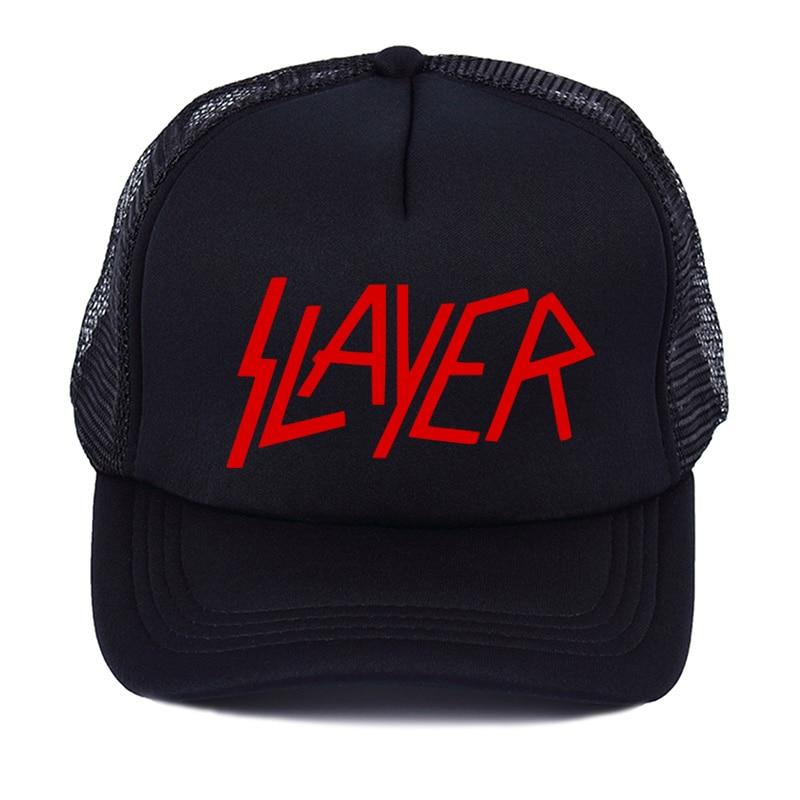 Popular pop sale the band men's   Baseball     caps   the slayer Speed Metal   cap   men summer high quality   Baseball   Mesh Net Trucker   Cap