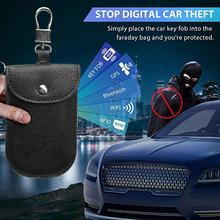 GPS RF RFID Signal Blocking Bag Anti-Radiation Signal Shielding Pouch Wallet Case fit for 99% Car Key Smart Car Key FOB Holder crocodile pattern anti radiation signal shielding protective pu bag case for mobile phone brown