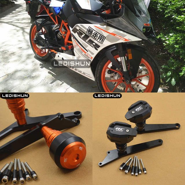 For KTM RC390 RC 390 motorcycle slider frame sliders Engine Protective Guard cover Falling Protection