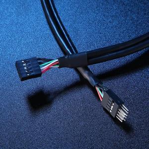 50 см/19,68 ''USB 2,0 9-контактный разъем для 9-контактный Женский адаптер удлинитель Кабель USB2.0 9Pin M/F мультипликатор удлинитель провод линия