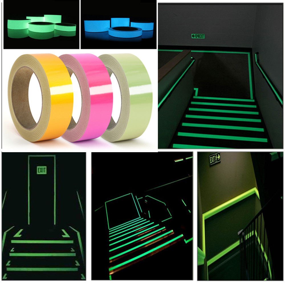 3M 15mm Luminous Tape Reflective Stairs Guide Self-illuminating Warning Tape Glowing In The Dark Self-adhesive Sticker For Home