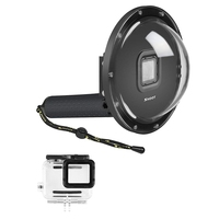 SHOOT Dome Port for GoPro Hero 6/Hero 5/Hero(2018) Black Camera Underwater Diving Transparent Lens Housing Dome with Gray Floa