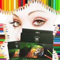Basswood Color Pencil Set 12/18/24/36/48/72 Colors Student Artist Drawing Oil Color Pencil School Office Art Supplies Stationery