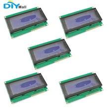 5 pçs/lote DIYmall Display LCD Character Azul Blacklight 2004 20x4 2004A Módulo 5 V