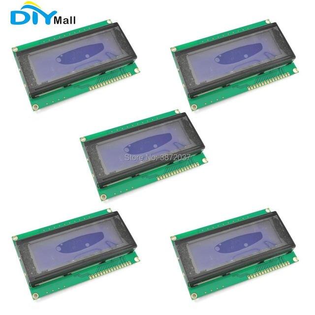 5pcs/lot DIYmall Blue Blacklight 2004 20x4 2004A Character LCD Display Module 5V