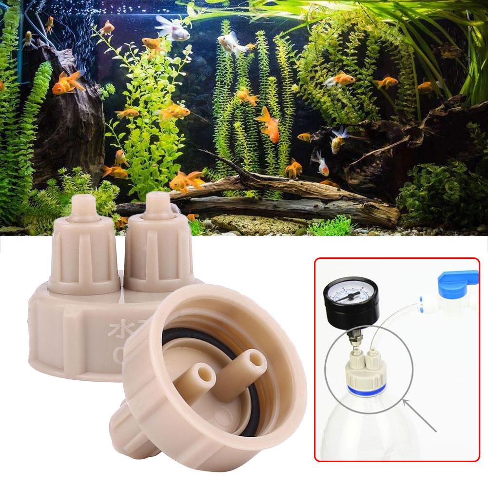 1Pc/2pc 3.4*3.4*3.2cm Plastic Bottle Cap Aquarium CO2 Accessories System Generator Kit With Tubes Tool Part Aquarium Accessories