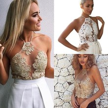 2019 Women Lace Embroidery Camisole Mesh Sleeveless Tank Floral Casual Sweet Camis Top