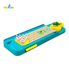 Mini Desktop Bowling Game Indoor Mini Finger Catapult Frog Bowling Table Launch Pad Desktop Game Launcher Toy Gag Toys
