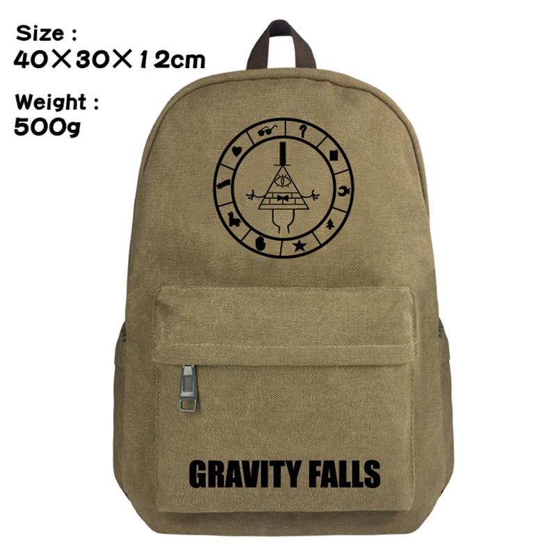 Рюкзак на молнии с принтом аниме Гравити Фолз, школьная сумка, сумка на плечо, сумка для ноутбука, Студенческая Повседневная сумка для книг, дорожная сумка, рюкзак