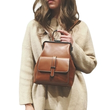 Retro Bags Pu Leather Backpack Women School Bags For Small Backpacks цена 2017
