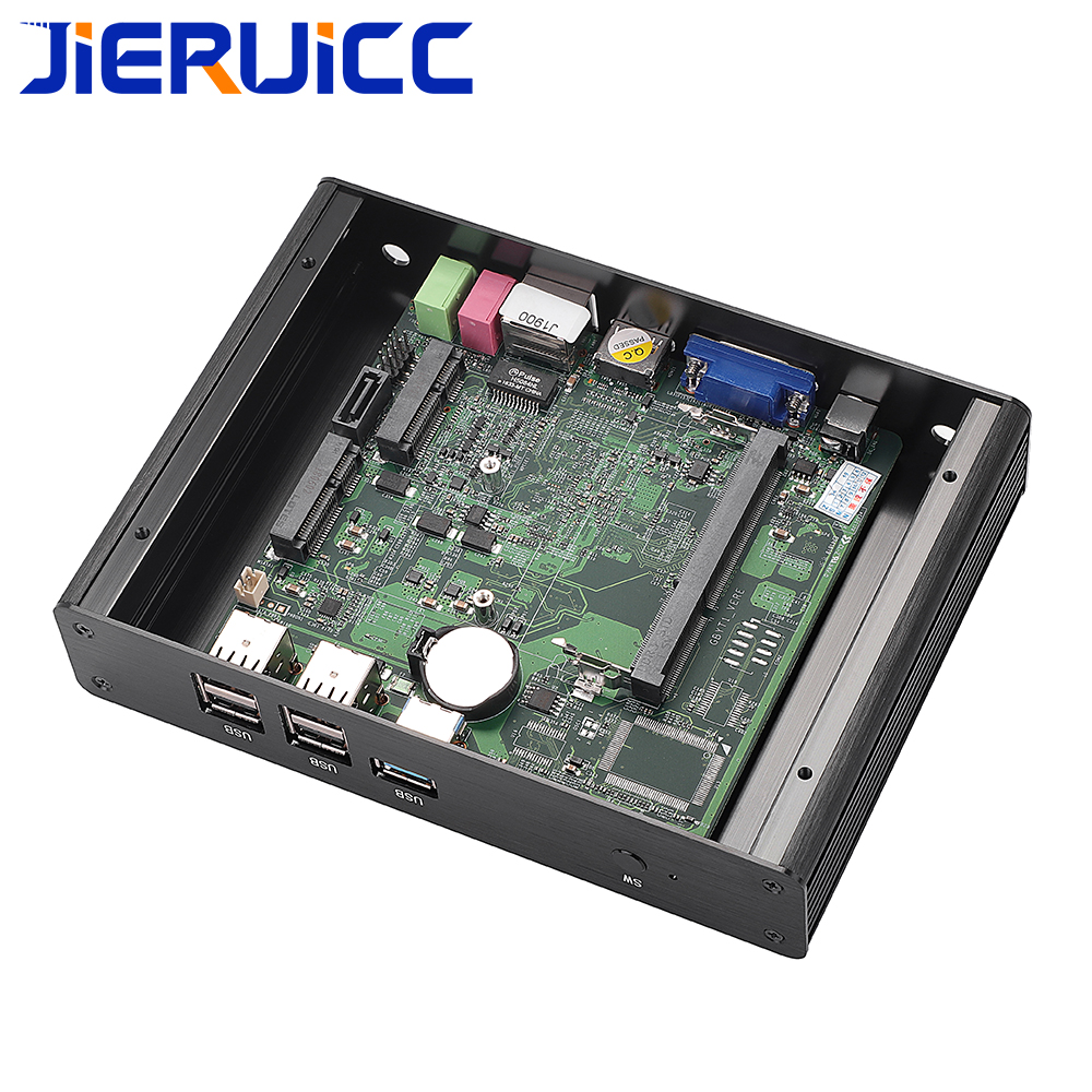 Windows mini pc intel celeron quad-core 2 0-2 41Ghz CPU DDR3 RAM/Msata/SATA  SSD 6USB port