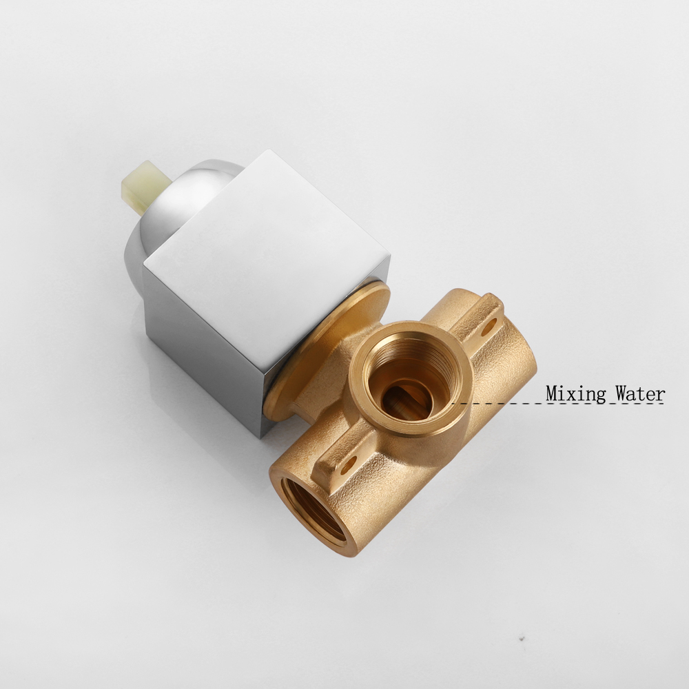 Image 2 - SKOWLL Shower Mixer Valve Shower Faucet Brass Bathroom Hot Cold Bath Mixer Valve Wall Mounted Water Tap torneira chuveiro-in Shower Faucets from Home Improvement