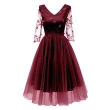 Короткое Кружевное Вечернее Платье с вышивкой сексуальное элегантное вечернее платье трапециевидной формы с v-образным вырезом вечернее платье из чистой пряжи