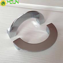3.75 Semicircle Handles Dresser Pull Drawer Knobs Pulls Handle Silver Chrome Kitchen Cabinet Door Knob Modern
