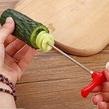 Овощной твист нож фрукты спиральный резак с ручным роликом спиральный нож для резки овощей картофель морковь кухонные инструменты