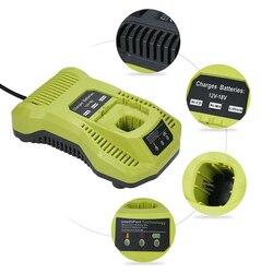P117 wymienna ładowarka do akumulatora litowo jonowego 12 18V NI CD NI MH do elektronarzędzi Ryobi EU Plug w Akcesoria do elektronarzędzi od Narzędzia na