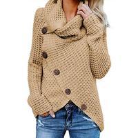 2019 осенне-зимний свитер с высоким воротником толстый теплый трикотажный пуловер Женский вязаный свитер джемпер женский свитер женский