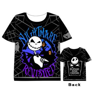 Anime  The Nightmare Before Christmas T-shirt Men Women Short Sleeve Summer dress  Jack Skellington Unisex Harajuku t shirt