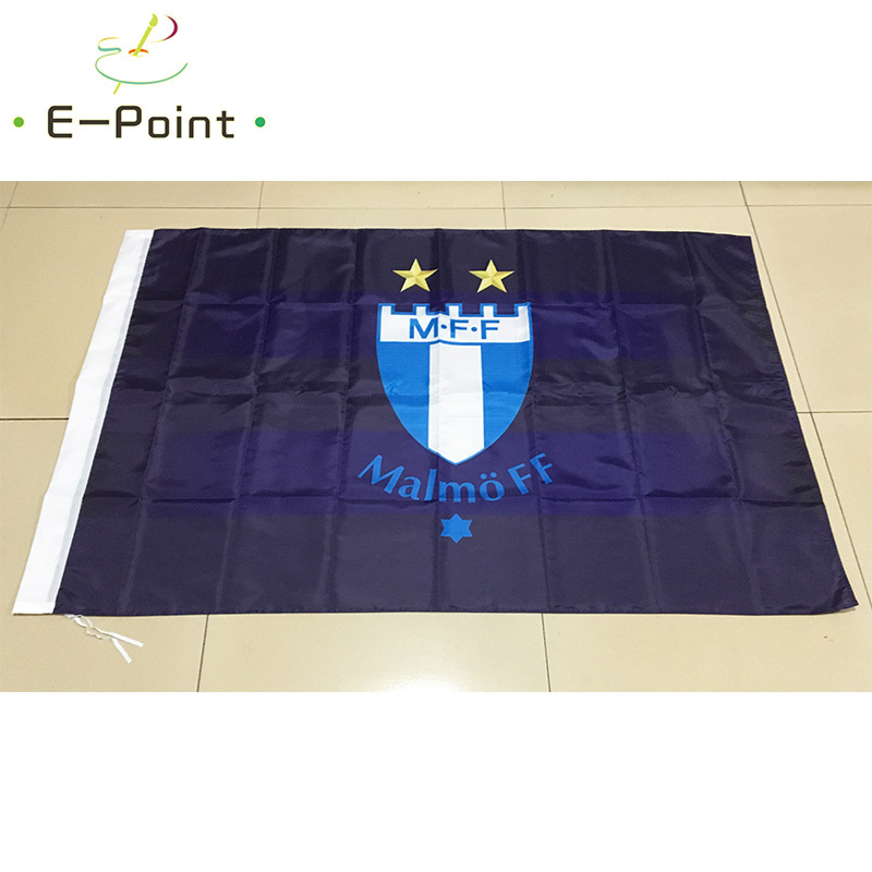 Sweden <font><b>Malmo</b></font> FF 3ft*5ft (90*150cm) Size Christmas Decorations for Home Flag Banner Gifts image